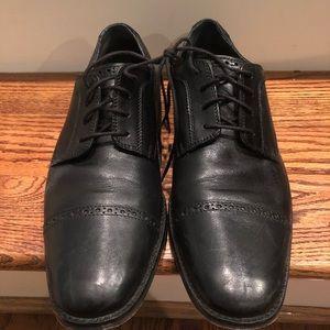 Cole Haan men's black leather oxfords sz 9.5 M